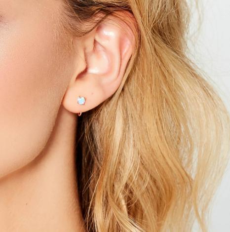Opal Huggie Earrings