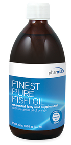 Product overview: Essential fatty acids formula from fish oils  • 1675 mg of EPA + DHA per dose     Natural EPA and DHA enrichment • NEO-3™ enzymatic process mimics the natural digestive system     For more product information and to obtain specific recommendations on how this product may be effective in helping you to clinically improve your health condition, please contact our office's customer service or schedule a consult with our clinical nutritionist physician and medical practitioner.     Efficacy, stability & superb palatability  • Great tasting natural orange flavor  • Natural enrichment process delivers cleaner taste  • Includes natural mixed tocopherols for enhanced stability     Independently tested & certified  • Meet or exceed Health Canada and FDA regulations  • Ensure content claims, meet or exceed label specifications  Supplement Facts:  Serving Size 1-8 years: ½ Teaspoon (2.5 ml);   9+ years: 1 Teaspoon (5 ml)   Servings per Container 1-8 years: 200; 9+ years: 100  Amount per teaspoon :   % DV for Adults & Adolescents  9+ Years  (1 teaspoon)     % DV for Children  4-8 Years  (½ teaspoon)    % DV for Children  1-3 Years  (½ teaspoon)   Calories 40    Calories from Fat 40    Total Fat 4.5 g 7%? 4%? *  Saturated Fat 1 g 4% ? 2% ? *  Cholesterol 45 mg 15% ? 8% ? *  EPA (Eicosapentaenoic Acid)  950 mg * * *  DHA (Docosahexaenoic Acid)  725 mg * * *  Total omega-3  (EPA, DHA & other omega-3's provided as anchovy & sardine oil) 1975 mg * * *   ? Percent Daily Values (DV) are based on a 2,000 calorie diet  * Daily Value not established