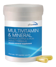 Multivitamin & Mineral without Copper & Iron -120 - 120 Capsules By Pharmax