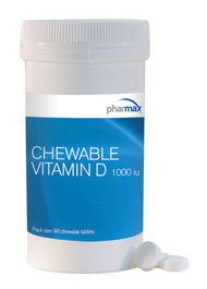 Chewable Vitamin D by Pharmax 1000 iu 90 Tablets