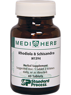 Rhodiola & Schisandra from MediHerb 40 Tablets