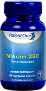 Niacin 250 Time Released by Patient One 90 vege capsules