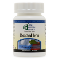 Reacted Iron 60 capsules by Ortho Molecular