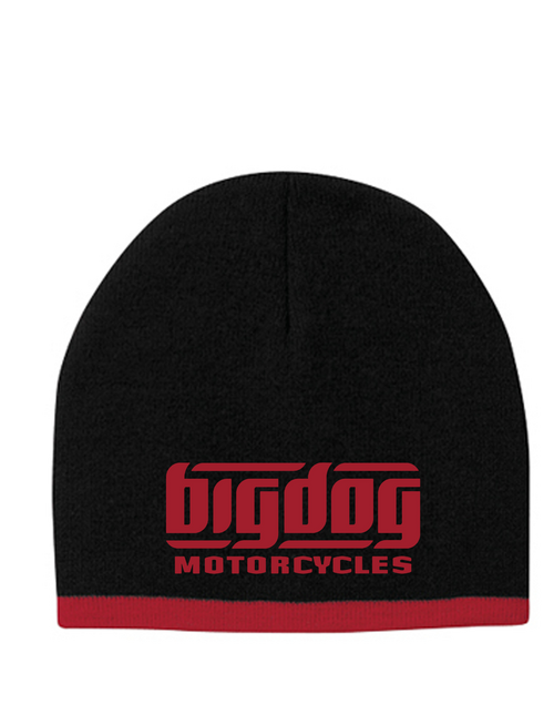 Big Dog Motorcycles Black / Red Beanie Cap