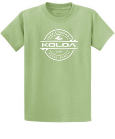 Koloa Surf Thruster Surfboards Logo Short Sleeve Heavy Cotton T-Shirts. Regular, Big & Tall