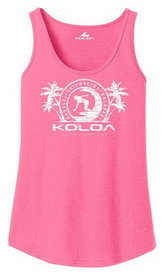 Neon Pink / White logo