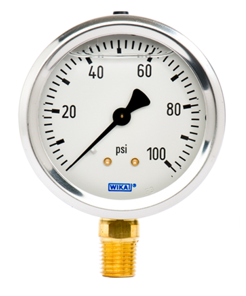 WIKA Type 213.53 Utility Pressure Gauge 0-100 PSI 9767061