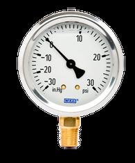 WIKA Type 213.53 Utility Pressure Gauge 0-30 in Hg Vacuum / 30 PSI 9767010