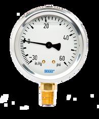 WIKA Type 213.53 Utility Pressure Gauge 0-30 in Hg Vacuum / 60 PSI 9767029
