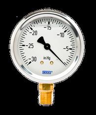 WIKA Type 213.53 Utility Pressure Gauge 0-30 in Hg Vacuum 9767002