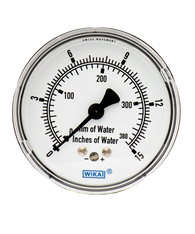 WIKA Type 611.10 Low Pressure Gauge 0-15IWP 9851860