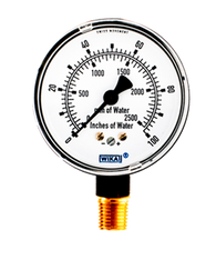 WIKA Type 611.10 Low Pressure Gauge 0-100 in H2O 9851810