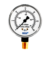 WIKA Type 611.10 Low Pressure Gauge 0-30 in H2O 9851690
