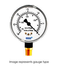 WIKA Type 611.10 Low Pressure Gauge 0-30 in H2O Vacuum 9852344