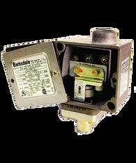 Barksdale Series E1H Dia-Seal Piston Pressure Switch, Housed, Single Setpoint, 10 to 250 PSI, E1H-G250BRVRDLC
