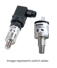 Barksdale Series 7000 Compact Pressure Switch, Single Setpoint, 6 to 50 PSI, 722S-14-2V