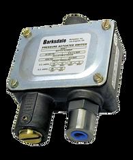 Barksdale Series 9048 Sealed Piston Pressure Switch, Housed, Single Setpoint, 200 to 3000 PSI, 9048-4-CS-V