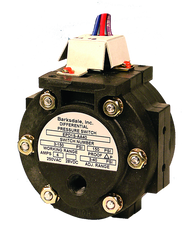 Barksdale Series EPD1S Differential Pressure Switch, Stripped, Single Setpoint, 0.3 to 3 PSI, EPD1S-AA40-W24