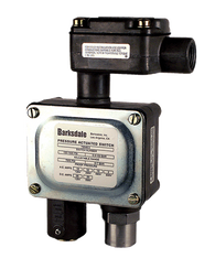 Barksdale Series 9048 Sealed Piston Pressure Switch, Housed, Single Setpoint, 35 to 250 PSI, T9048-1-CS