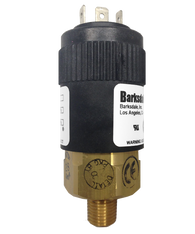 Barksdale Series 96201 Compact Pressure Switch, Single Setpoint, 5 to 35 PSI, T96211-BB2SS-T1-V