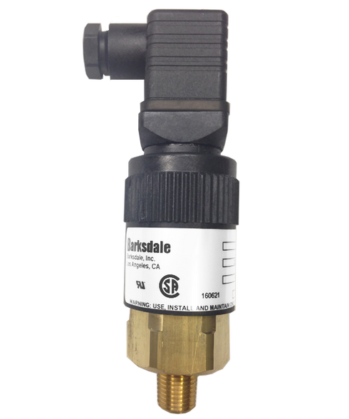 Barksdale Series 96201 Compact Pressure Switch, Single Setpoint, 110 to 500 PSI, T96211-BB6SS-T2-V