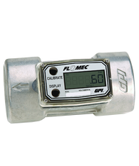 "GPI Flomec 2"" NPTF Low Flow Aluminum Turbine Meter With Local Display, 30 to 300 GPM, A109GMA200NA2"