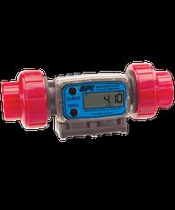 """GPI Flomec 1"""" NPTF PVDF Industrial Flow Meter, 5-50 GPM, G2P10N43GMC"""