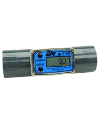 """GPI Flomec 1 1/2"""" NPTF PVC Water Meter With Local Display, 10 to 100 GPM, TM150-N"""