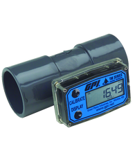 "GPI Flomec 2"" PVC Spigot Water Meter With Local Display, 20 to 200 GPM, TM200"