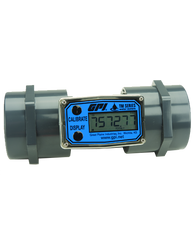 "GPI Flomec 2"" NPTF PVC Water Meter With Local Display, 20 to 200 GPM, TM200-N"