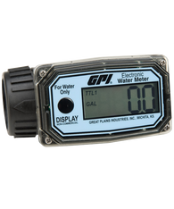 "GPI Flomec 1"" NPTF Nylon Digital Water Meter, 3-30 GPM, 01N31GM"