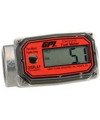 """GPI Flomec 1"""" NPTF Aluminum Fuel Meter, 10-100 LPM, 01A31LM"""
