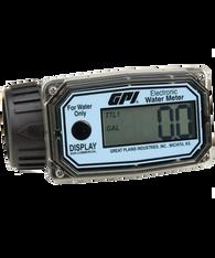 """GPI Flomec 1"""" ISOF Nylon Digital Water Meter, 10-100 LPM, 01N12LM"""