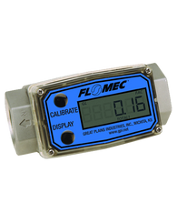 "GPI Flomec 1 1/2"" NPTF Aluminum Industrial Flow Meter, 10-100 GPM, G2A15N41XXC"