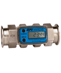 GPI Flomec Tri-Clover Stainless Steel Industrial Flow Meter, 20-200 GPM, G2S20T53GMC