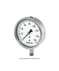 Ashcroft Type 1009 Stainless Steel Duralife Pressure Gauge 0-2000 PSI 35-1009-SW-02L-2000#