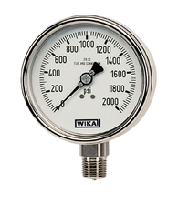 WIKA Type 232.53 Stainless Steel Industrial Gauge 0-30 in Hg Vacuum / 60 PSI 9745572