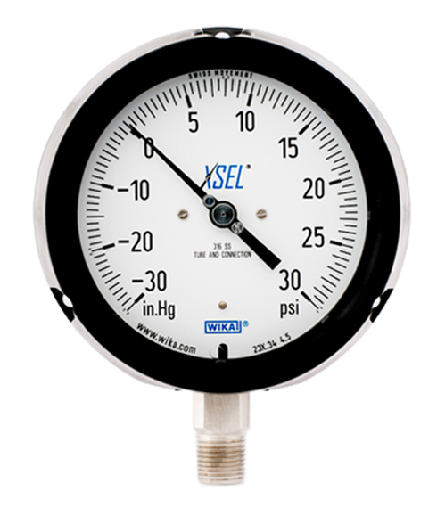 High Pressure Vacuum Gauge : Wika type xsel process pressure gauge in hg