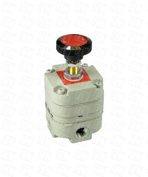"Bellofram Type 10 Precision Pressure Regulator, 3/8"" NPT, 2-120 PSI, 960-017-000"
