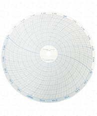 """Partlow Circular Chart, 10"""", 24 Hr, 0 to 400, 5 Divisions, Box of 100, 00213802"""