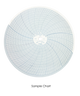 """Partlow Circular Chart, 10"""", 24 hour, 0 to 3000, 25 divisions, Box of 100, 00213813"""