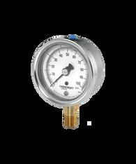 Ashcroft Type 1009 Stainless Steel Duralife Pressure Gauge 30 in Hg Vacuum / 30 PSI 25-1009-AW-02L-30INX30#