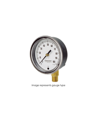 Ashcroft Type 1490 Low Pressure Diaphragm Gauge 0-100 in H2O Pressure 25-1490-A-02L-100IW