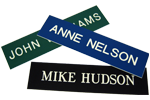 "Image shows 2"" x 10"" Name Plate Insert (K02) from Cool School Studios."