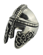 Spartan Warrior Helmet Sterling Silver Ring