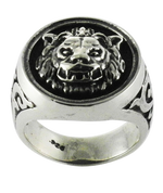 The King of the Pride -  Lion Head Ring in Sterling Silver