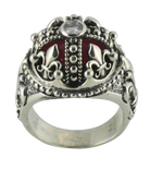 Regal King's Fleur De Lis Crown Ring