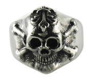 Skull & Cross Bones Sterling Silver Ring