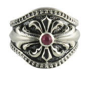 Warrior Shield Sterling Silver Ring