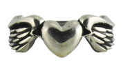 Love Freely: Heart with Wings Ring in Sterling Silver